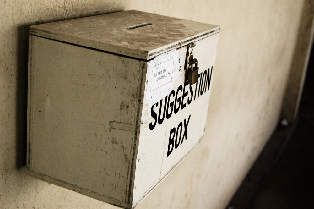 suggestion box  by Hash Milhan