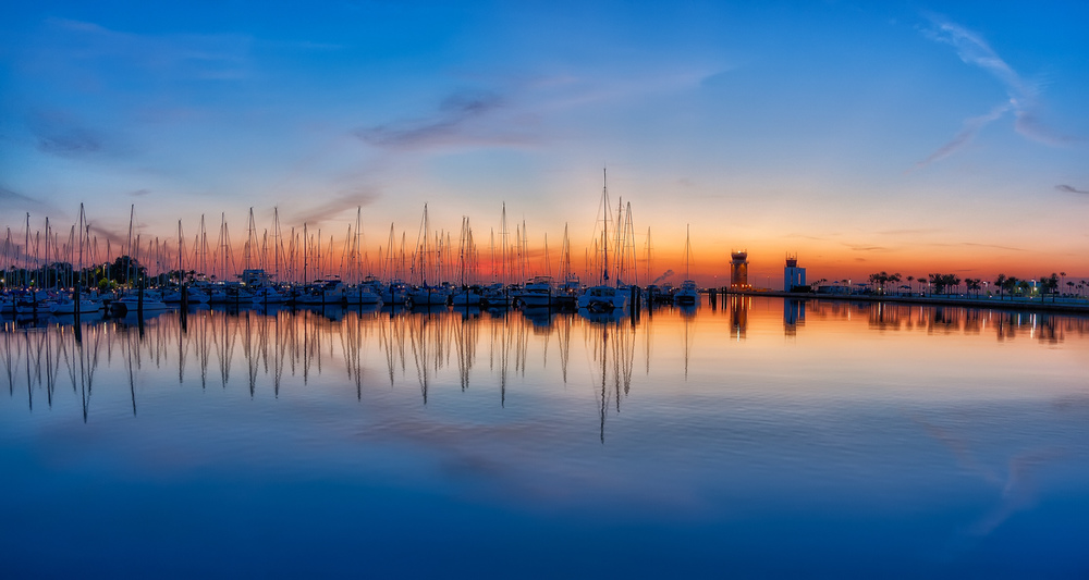 St Petersburg Sailboat Sunrise  by Matthew Paulson
