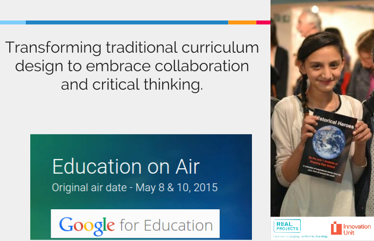 Education on Air: Transforming traditional curriculum design, Wapping High School & The Innovation Unit