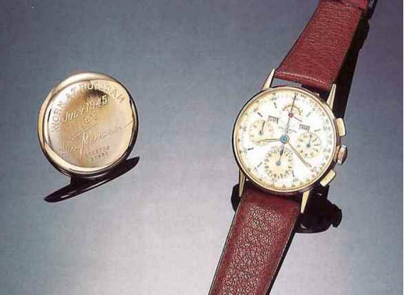 Universal Geneve Tri-Compax watch. Photo from Antiquorum
