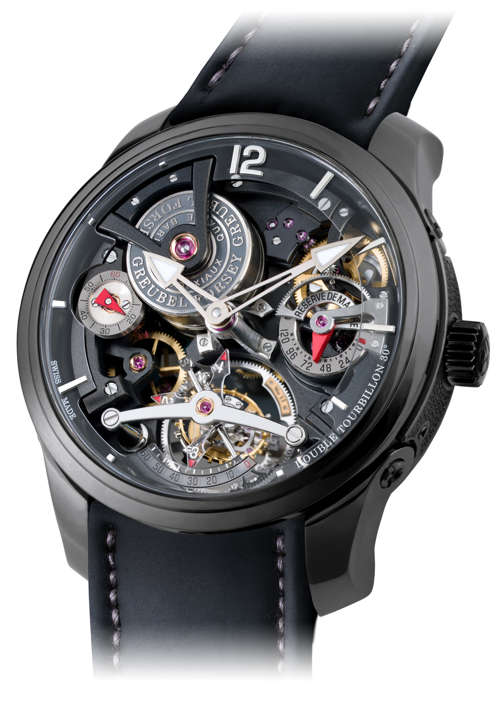 Double Tourbillon Technique Black