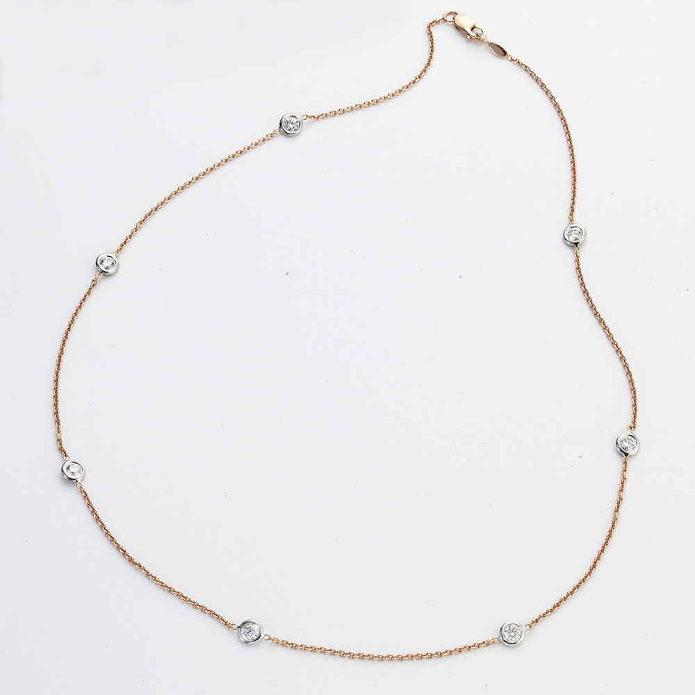 18 KARAT ROSE GOLD AND DIAMOND NECKLACE