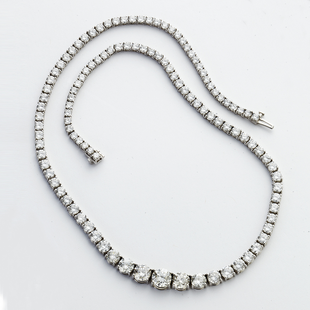 PLATINUM AND DIAMOND RIVIERA NECKLACE