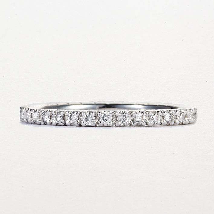 PLATINUM AND DIAMOND PAVE BAND
