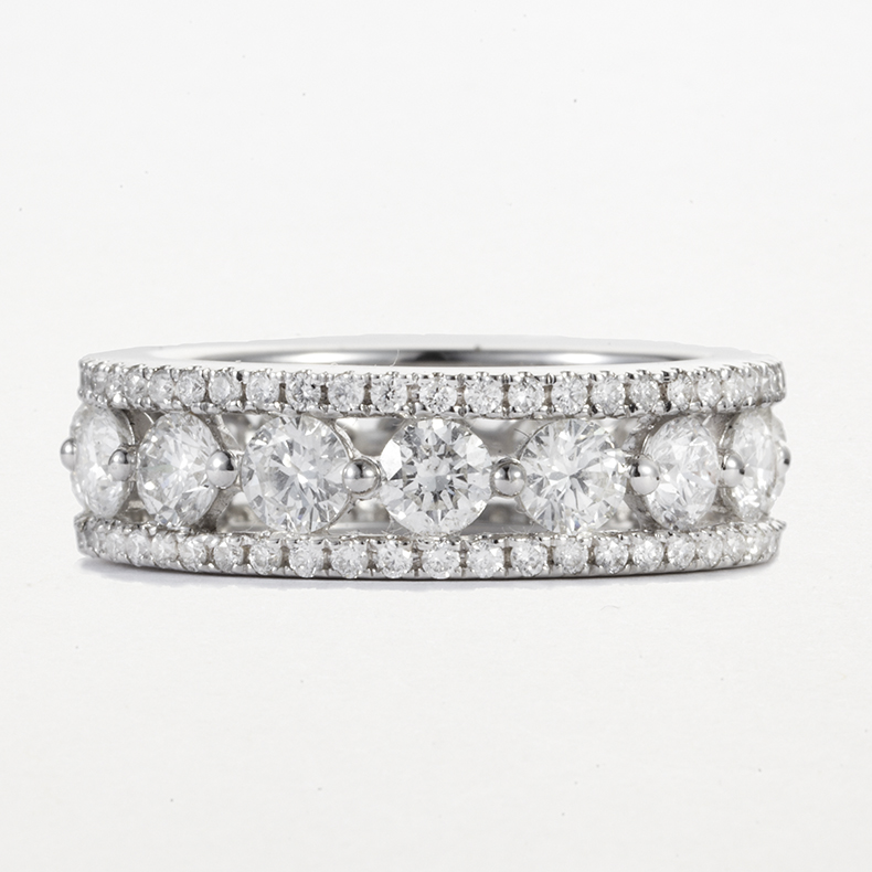 PLATINUM AND DIAMOND BAND