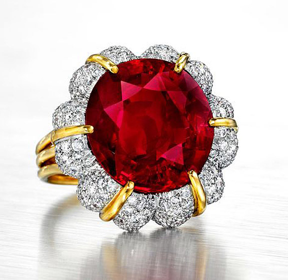 15 99 carat jubilee ruby sets u s record for the most expensive