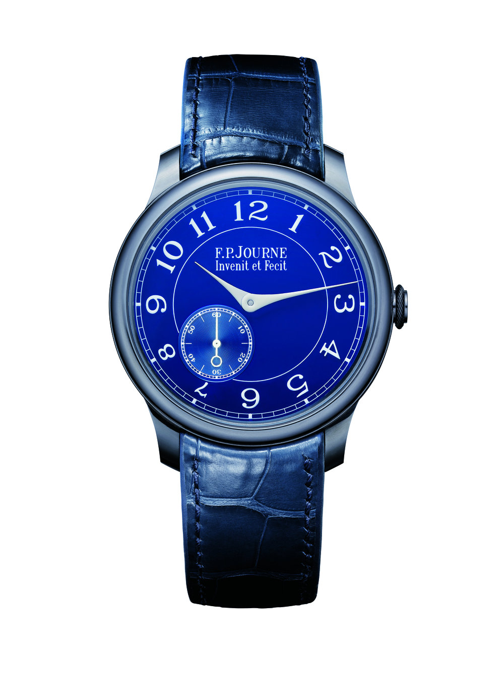 Chronometre Bleu, tantalum, crocodile strap, tantalum buckle.jpg