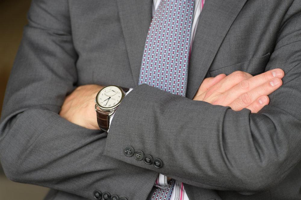 Adam Jarvis from Hermès wearing Le Temps Suspendu.