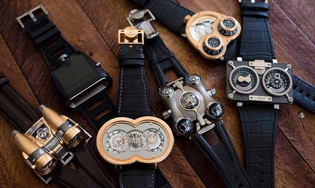 A collection of Horological Machines from MB&F.
