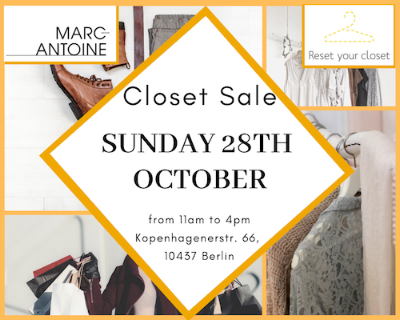Closet Sale event évènement vide dressing Hairstudio Gallery Kopenhagenerst. PrenzlauerBerg Berlin