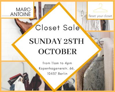 Closet Sale event évènement vide dressing Hairstudio Gallery Kopenhagenerst. PrenzlauerBerg Berlin