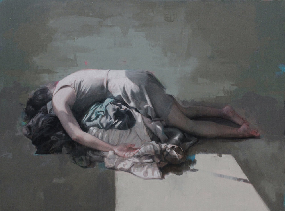"Folded. Oil on canvas. 36""x48"". 2018"