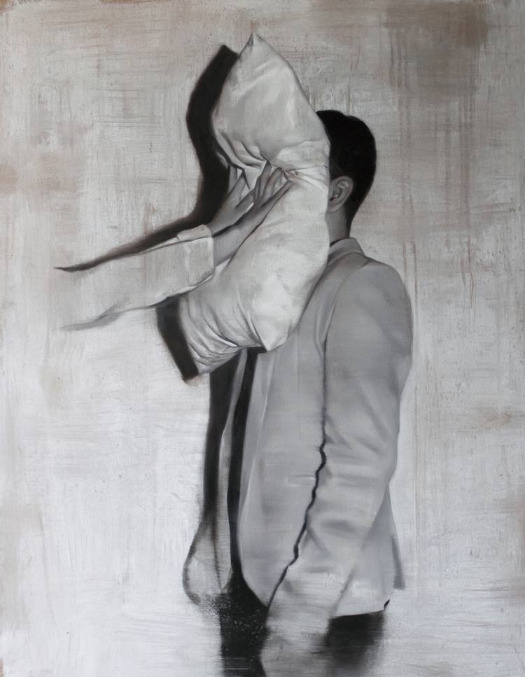 Performance para un sonambulo 1. Oil on canvas. 120x100cm. 2015