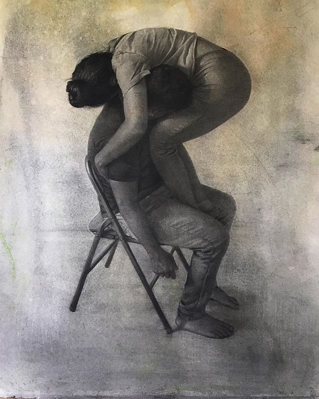 "A drawing that I have been working on. 'Ejercicio de Modulación' . Charcoal, watercolor on paper. 29""x22"" . #charcoal #drawing #graphite"