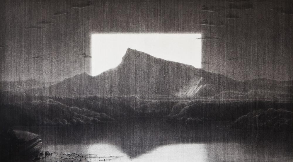 Panavista . 2012. Charcoal on paper. 136x238