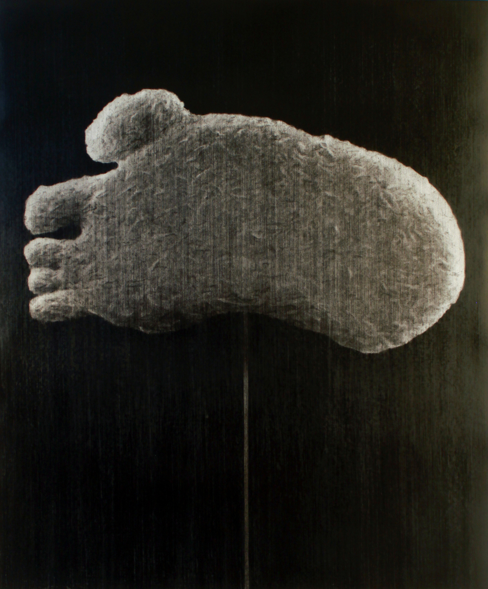 The Undisputed Heavyweight Champion Of The World . 2014. Charcoal on paper. 130x110cm