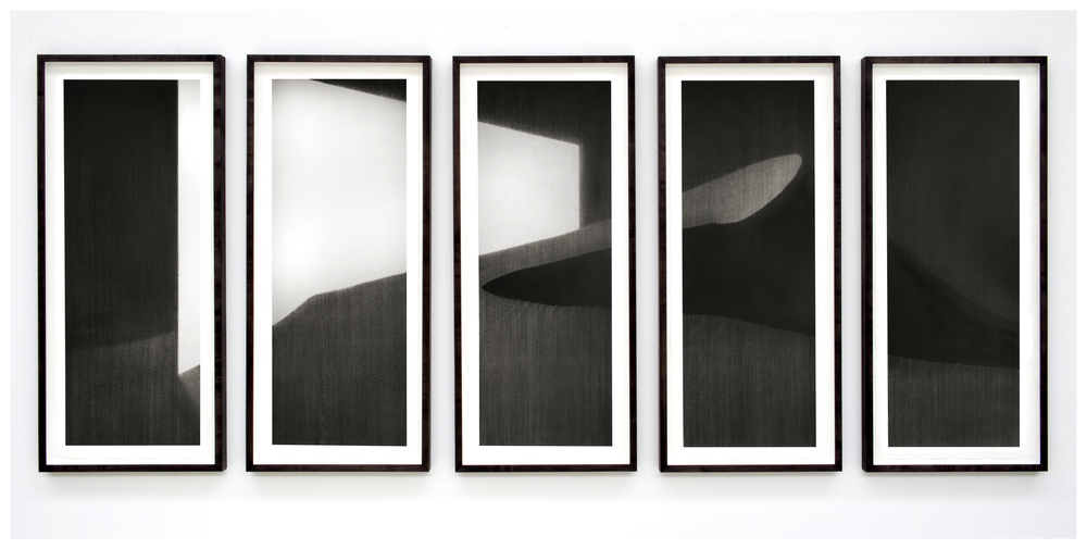 Windbreak IV . 2011. Charcoal on paper. 170x415cm.