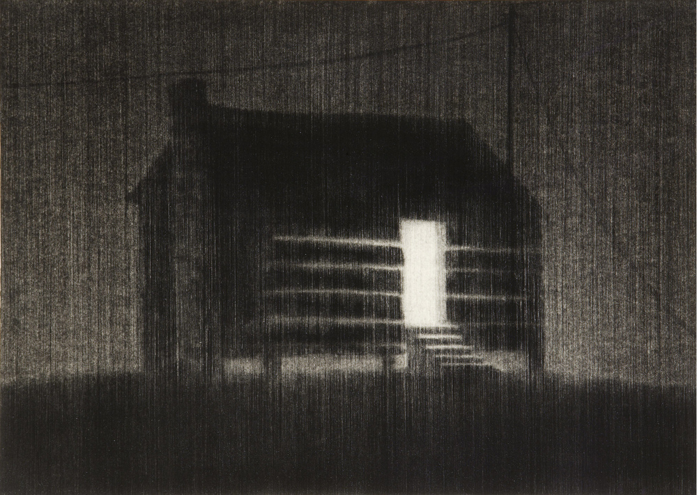 Flypaper . 2007. Charcoal on paper. 74x87cm.