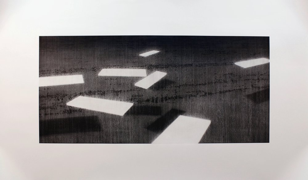 Heavier Than Air . 2016. charcoal on paper. 189x308cm