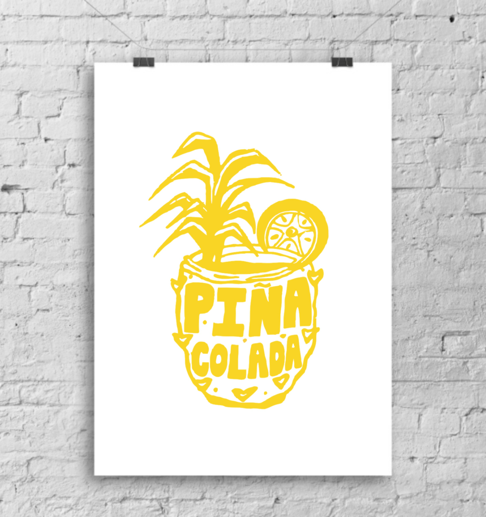 'Pina Colada' cocktail print