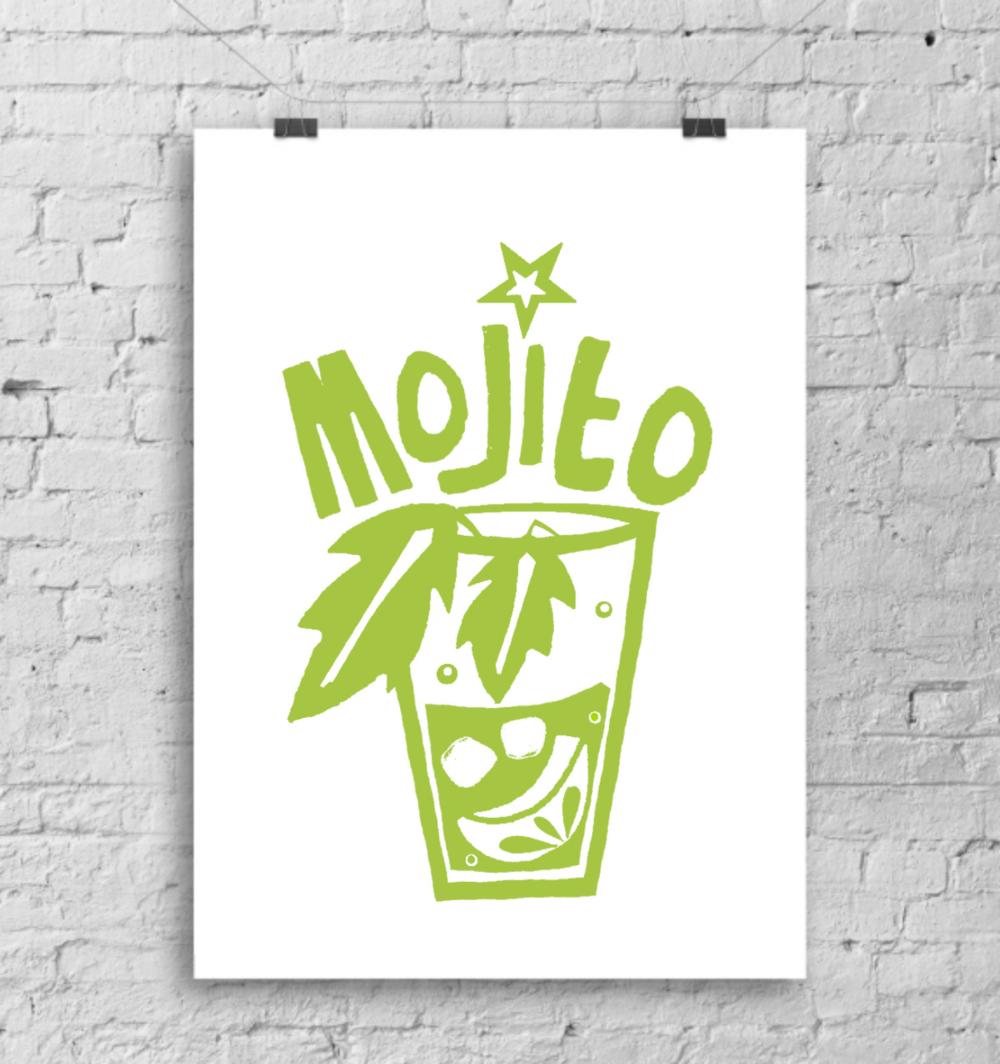'Mojito' cocktail print