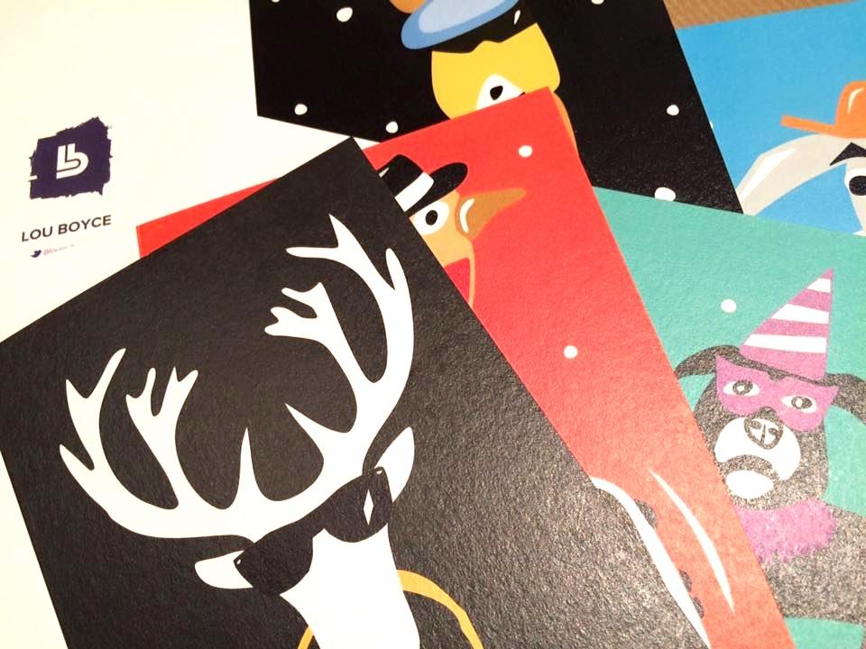 Funky Xmas cards