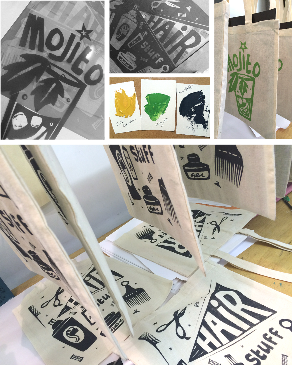 Screenprinting workshop - new tote bag designs