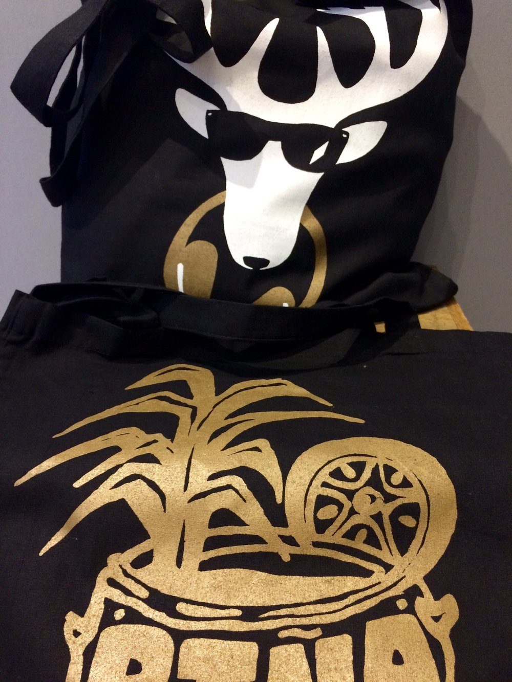 DJ Stag and Pina Colada Tote Bags