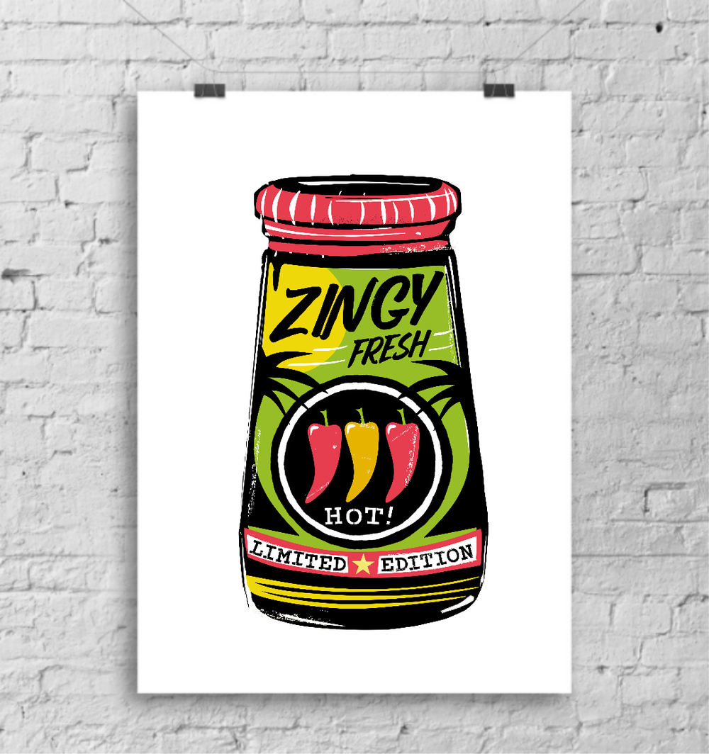 Zingy Fresh art print