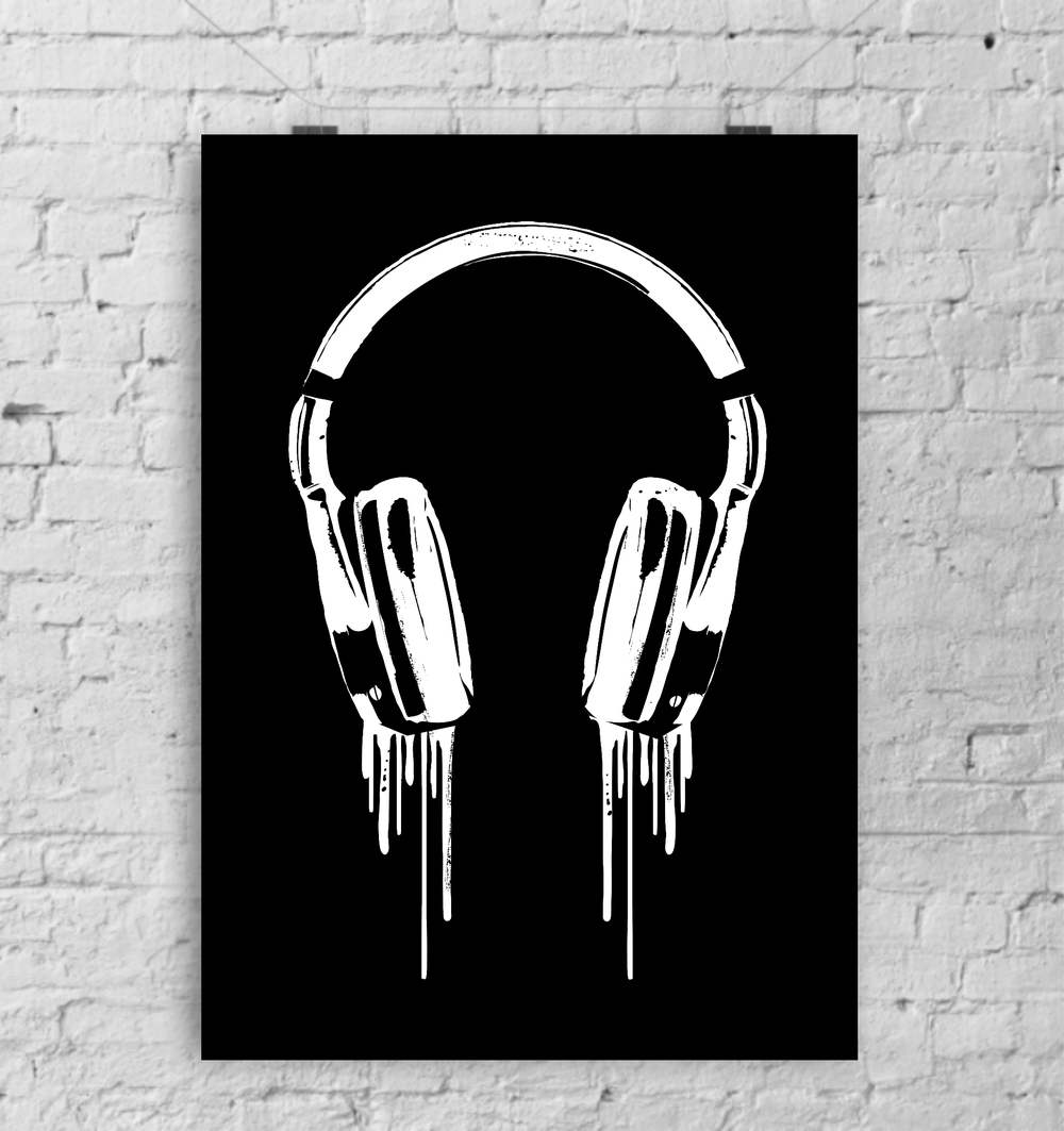 Dripping headphones print