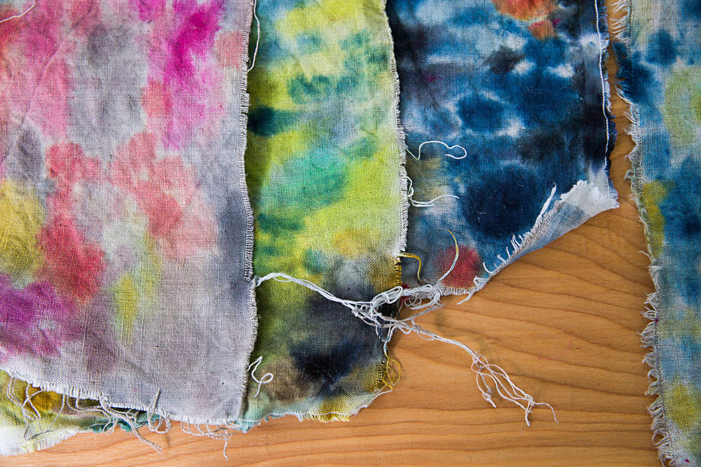 hand painted fabric samples