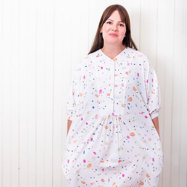 Carrie looks so 💗🙌💫 in her Barker Muumuu!  We hope that you all love this vintage inspired 0/S garment as much as we do.  Link in bio to shop for yours!!