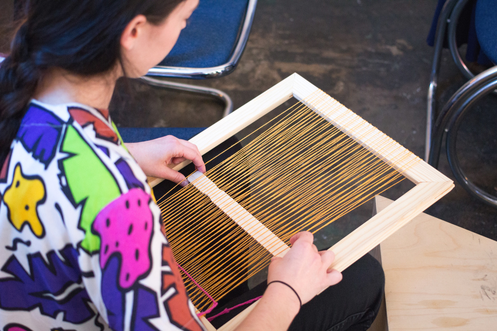 Taking a weaving workshop at Otherwild in Echo Park