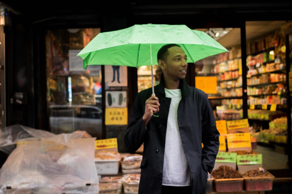 Exploring Chinatown in the rain