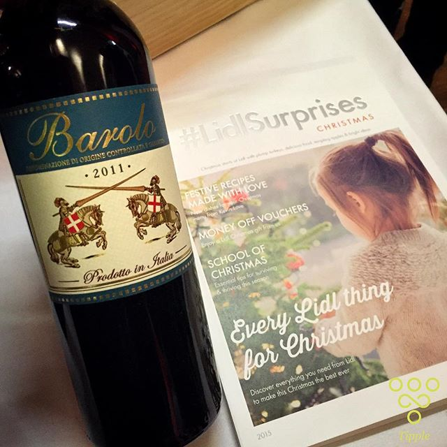 Tipple's Top Tip for Christmas wines this year - this Barolo is on sale at Lidl for under £12 and is incredible value. Great complexity and classic hallmarks of nebbiolo - roses, forest floor and great expression. And at this price, worth stocking up for Christmas. #TippleTips #TryTipple