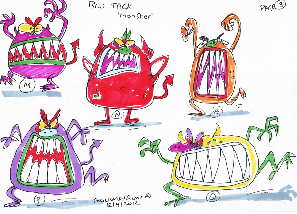 Blu Tack monster designs Page 3.jpg