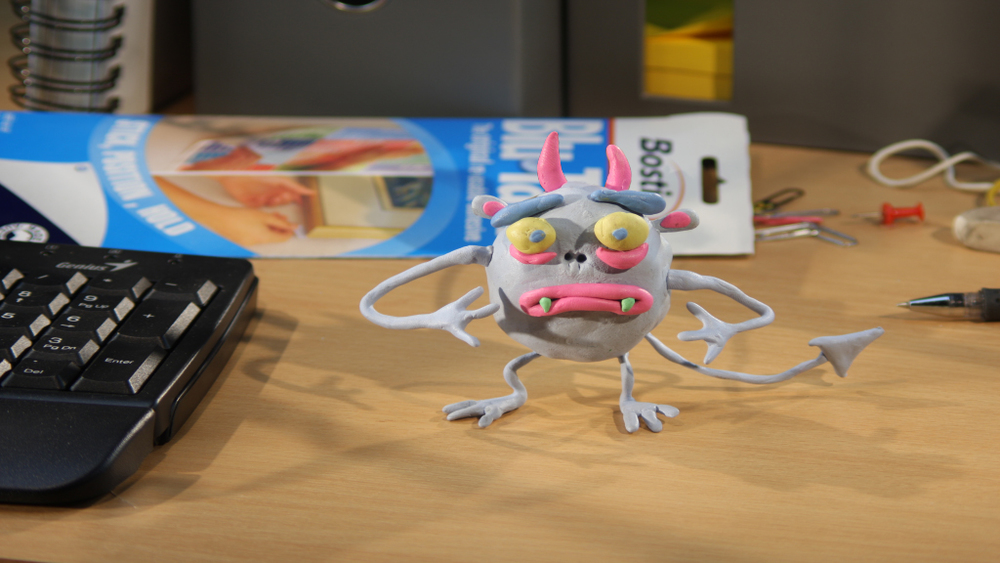 Blu-Tack Monster