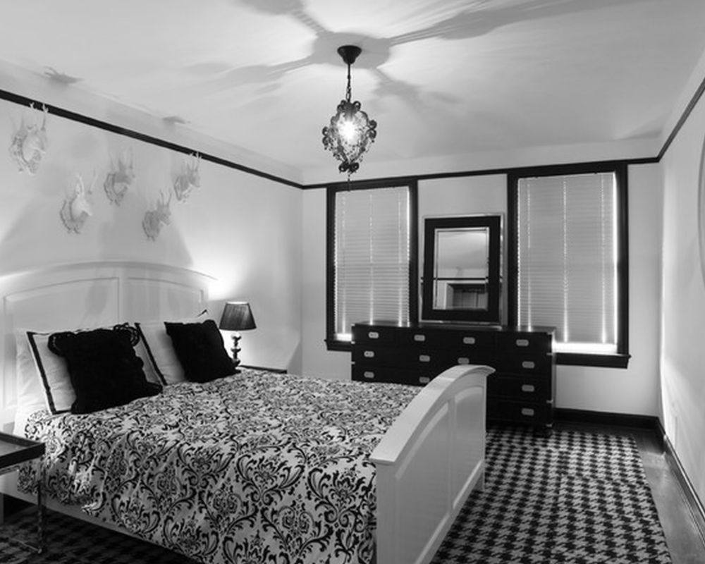 eclectic-bedroom-white-resin-deer-heads-at-white-wall-plus-chandelier-Beautiful-Bedroom-Ideas-Black-White-Awesome-bedroom-ideas-master-Transitional-Style.jpg