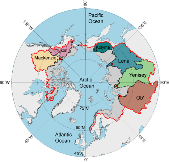 The Arctic Ocean watershed