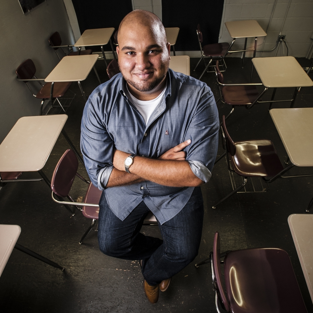 Adam Ristick, 24, now works for Act Six helping others graduate.  (Photo by Zach Krahmer)