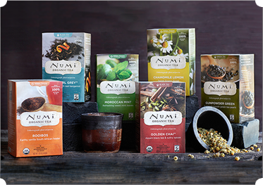 The best convenient, organic teas. Numi Tea.