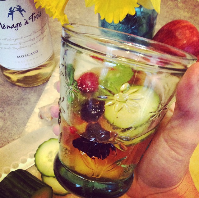 Sip on this Sexy Sangria and dream of warmer weather.