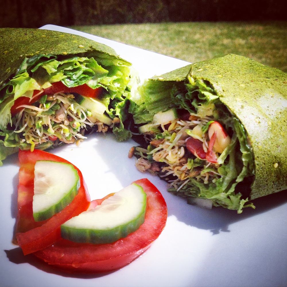 Veggie Heavy Tip of the Day: Wrap it up! It's easy to eat your veggies when they look and taste this good!