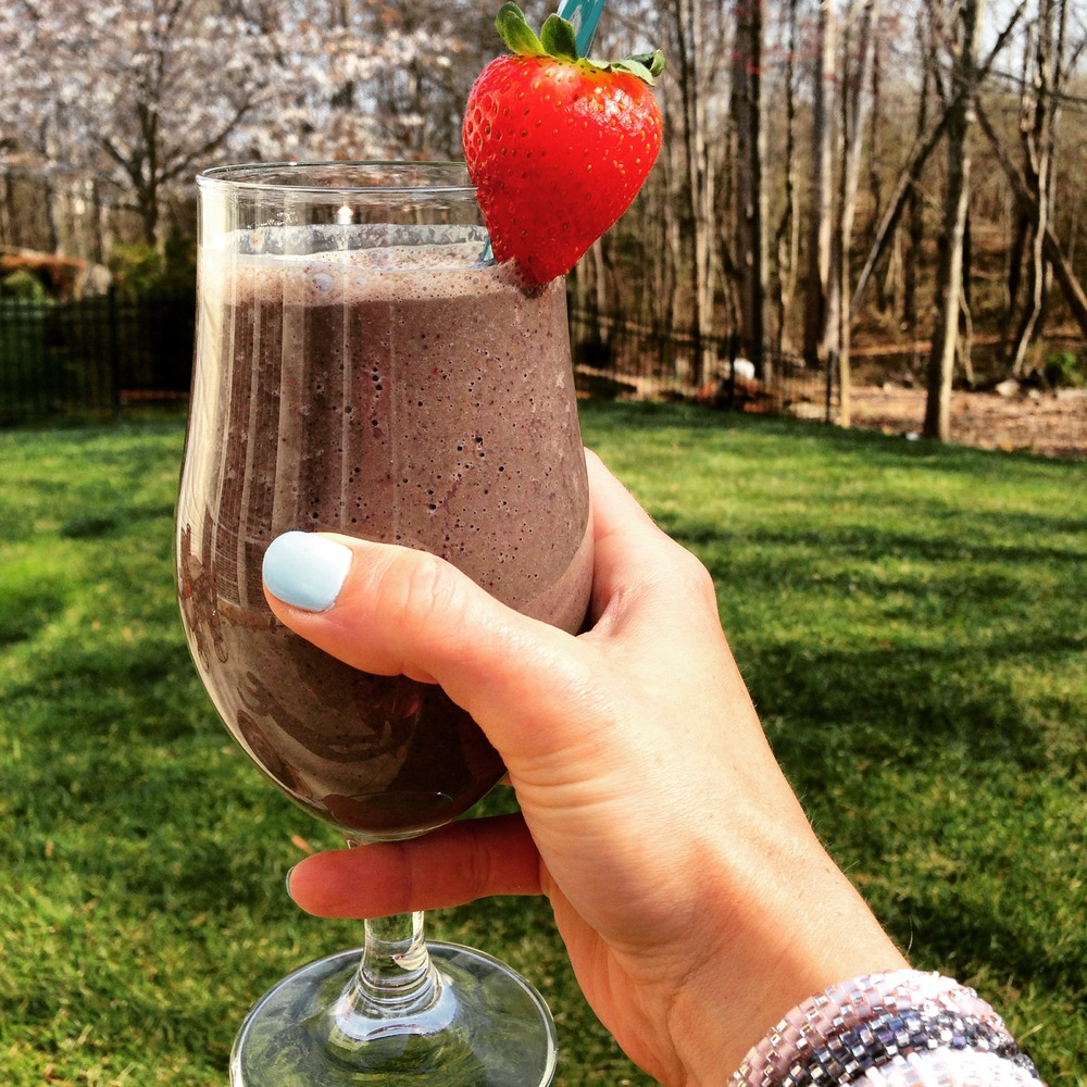 Love your locks with this protein and vitamin rich smoothie!