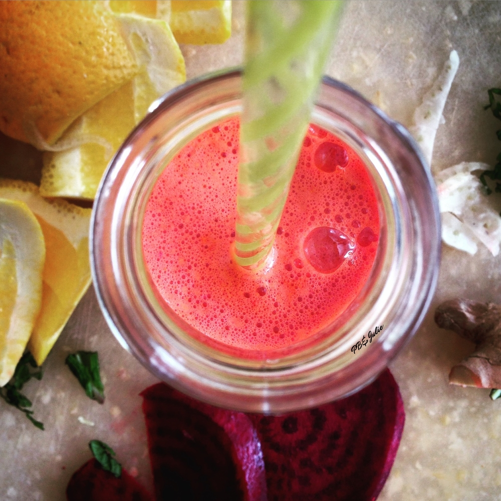 Energize and hydrate with this zingy citrus and beet juice.