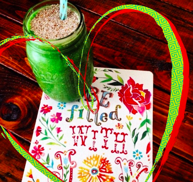 Fill your heart with joy with this heart chakra balancing Green Bliss Smoothie.