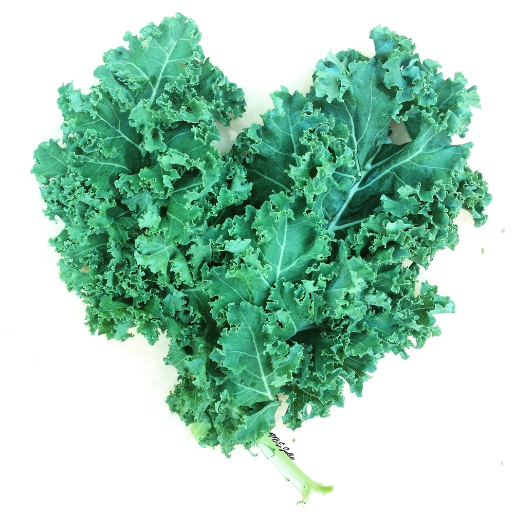 Kale, the leafy green that loves you back. Try it in this Green Bliss Smoothie for balancing your heart center.