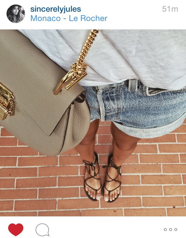 She's sincerely awesome and so are these lace up gladiator sandals!