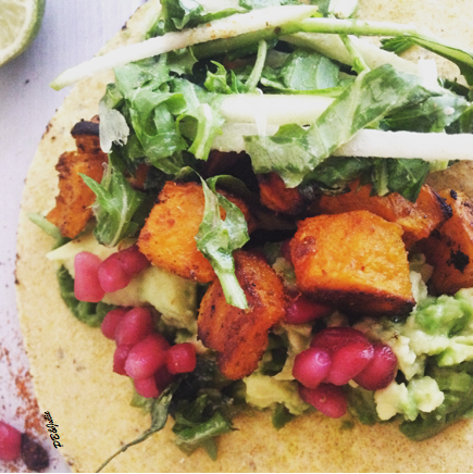 All the best flavors of fall in one delicious gluten free and vegan taco.