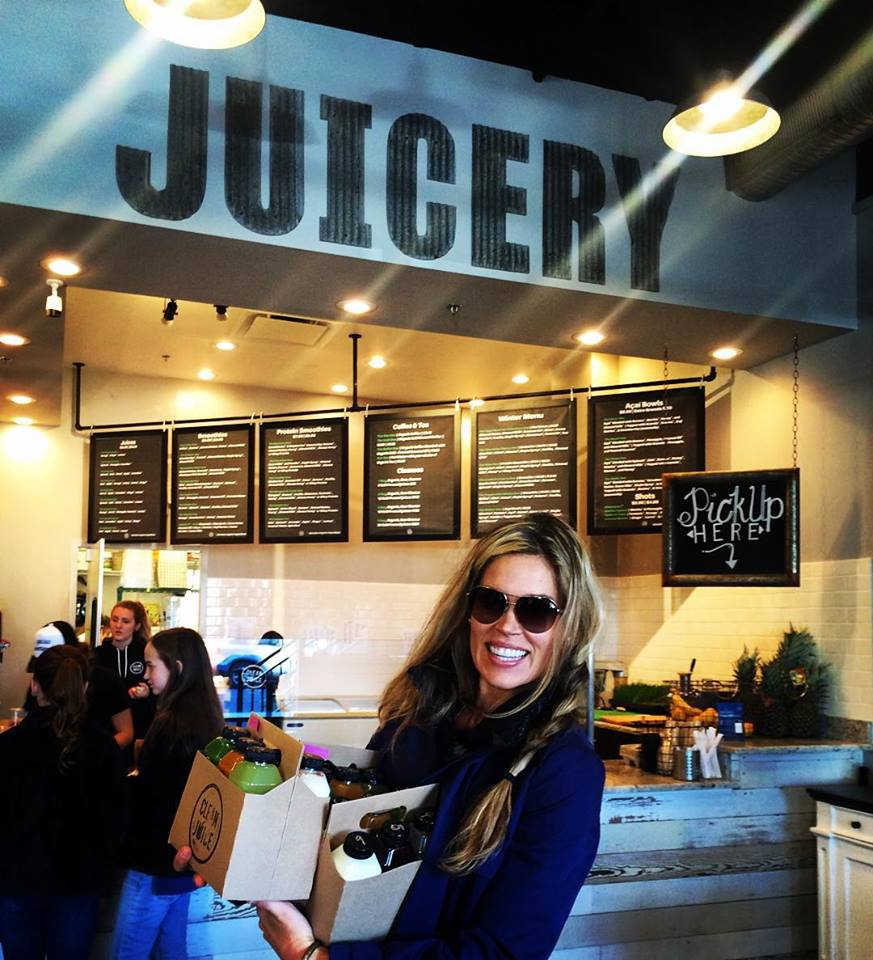 Here's Nila gearing up for her 3 day juice cleanse from Clean Juice.